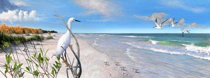 """Florida Beachscapes -Plate 1"" © Peter R. Gerbert"